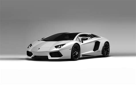 Luxury Lamborghini Cars: Lamborghini Aventador Black And White