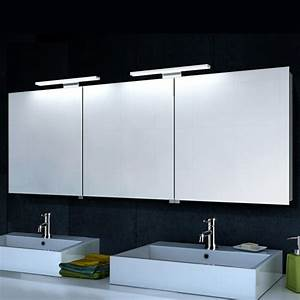 Design LED Beleuchtung Aluminium Badezimmer Spiegelschrank