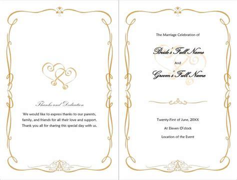 Program Templates by 37 Printable Wedding Program Exles Templates