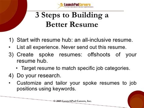 Steps On Writing A Resume by Resume Writing