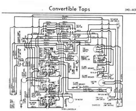 1959 Lincoln Wiring Diagram by Convertible Tops Wiring Diagram Of 1958 Ford Lincoln