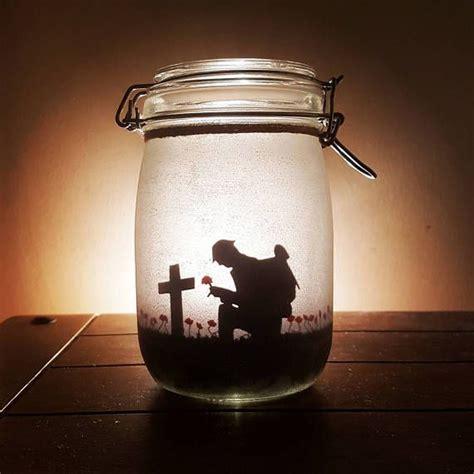 ww  ww remembrance memorial jar light soldier