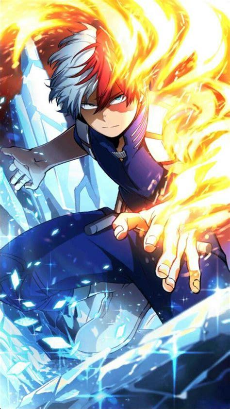 todoroki shouto  hero academia fondo de anime