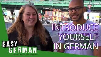 Introduce Yourself In German Super Easy German 1 Youtube
