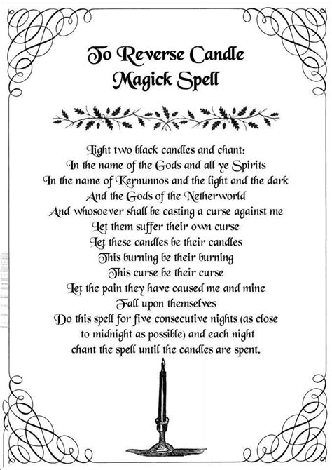 light magic spells to candle magick spell light two black candles