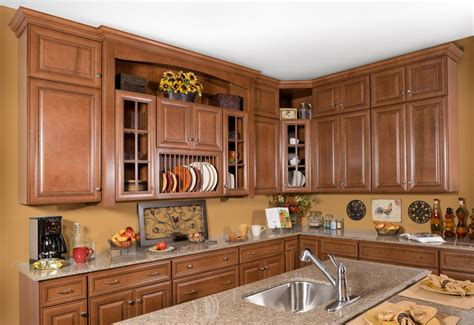 Rta Inset Cabinets by Hudson Heritage Brown With Chocolate Glaze Kitchen Cabinets