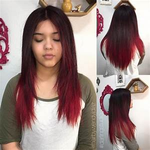 Ombré Hair Rouge : balayage noir et rouge ~ Melissatoandfro.com Idées de Décoration