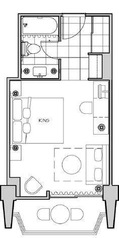 Small hotel room floor plan | Bedrooms | Pinterest