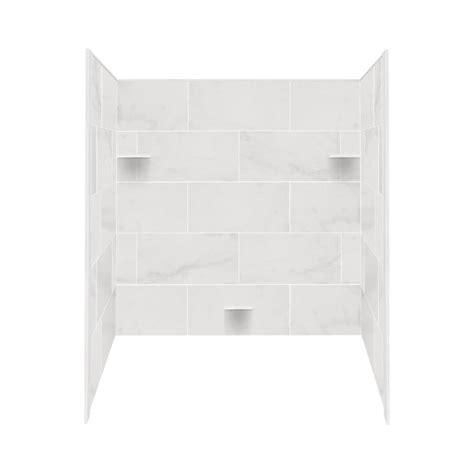 lowes bathtub surround shop style selections white carrara solid surface bathtub