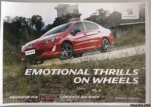 Peugeot 408 Griffe Brochure Scan  Kitted 408 Coming