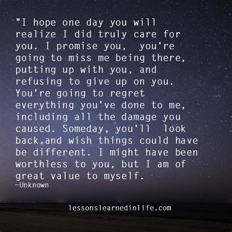 Lessons Learned In Lifeyou're Going To Miss Me.