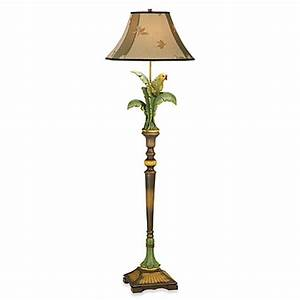 Kathy ireland home tropical parrot floor lamp bed bath for Floor lamp with parrot