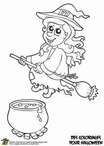 Dessin Citrouille Facile : coloriage chaudron et sorciere sur ~ Melissatoandfro.com Idées de Décoration