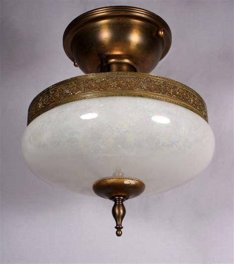 charming antique semi flush mount light fixture with