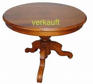 Antike Tische Rund : verkauft kleiner niedriger salontisch nussbaum rund edeltr del antike m bel ~ Frokenaadalensverden.com Haus und Dekorationen