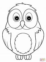 Coloring Owl Cute Pages Printable Owls Paper Animals Drawing sketch template