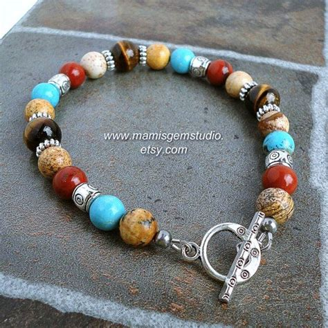 This Southwestern Inspired Mens Bracelet That