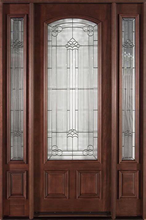 Custom Exterior Doors by Front Door Custom Single With 2 Sidelites Solid Wood
