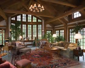 log home interiors restored tradition timber frame home great room