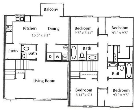 4 bedroom floor plan four bedroom house plans or by simple floor plans
