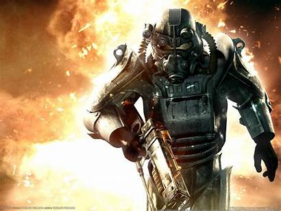 Fallout Brotherhood Steel Wallpapers Armor Pc Power