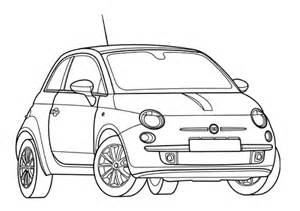 fiat  coloring page  printable coloring pages