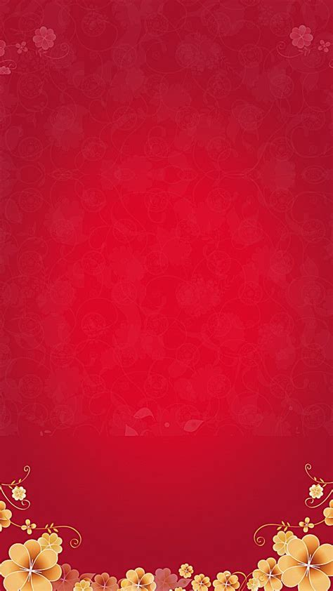 red festive flowers background   red background