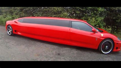 Available in either red or black, this vehicle is guaranteed to turn heads at your prom, wedding or night out. FERRARI LIMO - YouTube