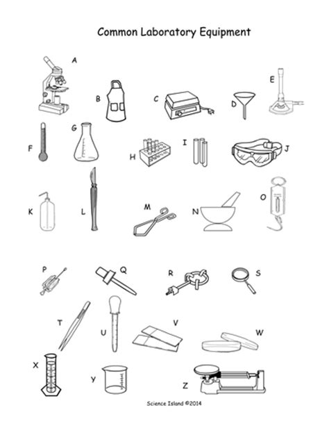 lab equipment activity and puzzles by scienceisland