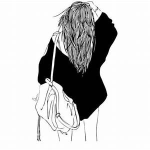 drawing, girl, outlines, tumblr - image #3983795 by ...