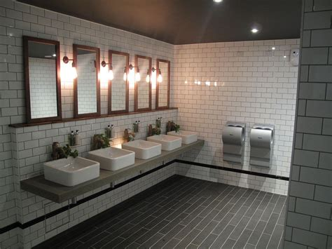 Cool Tiled Bathrooms by Cool Industrial Toilet Design With Stylish Subway Tiles