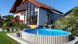 Pool Für Den Garten : wer braucht schon immer einen strand wenn man den eigenen pool im garten hat pool garten ~ Watch28wear.com Haus und Dekorationen