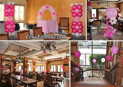 girls christening balloon decoration  pino restaurant