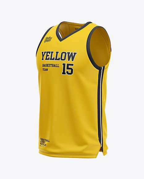 Overview this women's cycling jersey mockup in a back view is especially useful for presenting. Men's V-Neck Basketball Jersey Mockup - Front Half Side ...