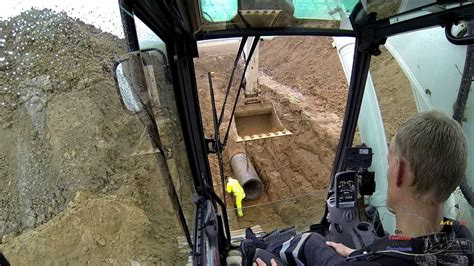 laying  concrete sewer pipe   experience youtube