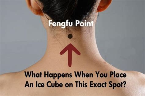 place  ice cube   spot