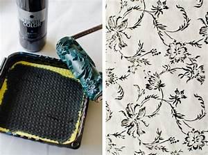 Stoff Selbst Bedrucken : stoffdruck mit flohmarktfund leelah loves ~ Eleganceandgraceweddings.com Haus und Dekorationen