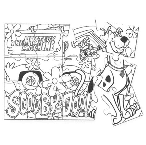 printable scooby doo puzzle coloring pages  jenna