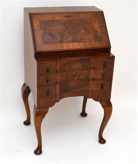 vintage bureau antique burr walnut writing bureau antiques atlas