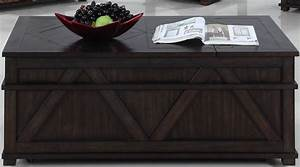 foxcroft distressed dark pine storage cocktail table t437 With dark pine coffee table