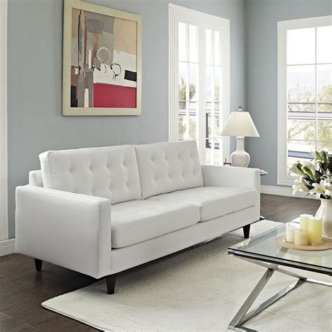 White Living Room Leather Furniture by Best 25 White Leather Sofas Ideas On Living
