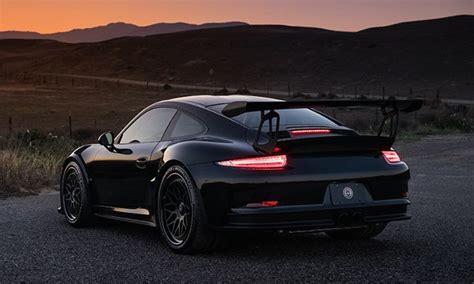 black porsche 911 gt3 black porsche 991 gt3 rs on hre wheels