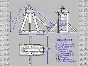 Plans to build Trebuchet Blueprints PDF Plans