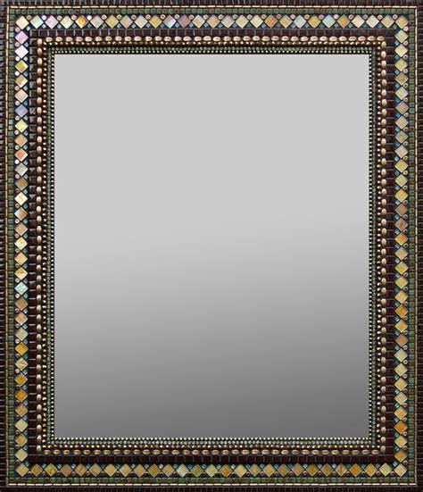 mosaic rectangular bathroom mirror golden chocolate mosaic mirror traditional wall