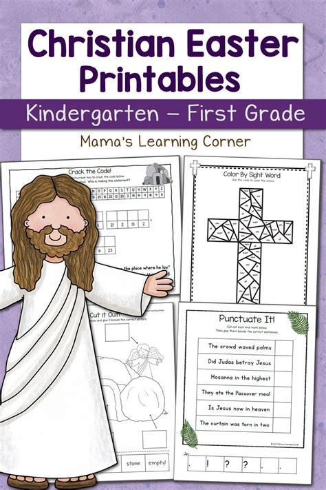 Christian Easter Worksheets For Kindergarten And First Grade  Mamas Learning Corner