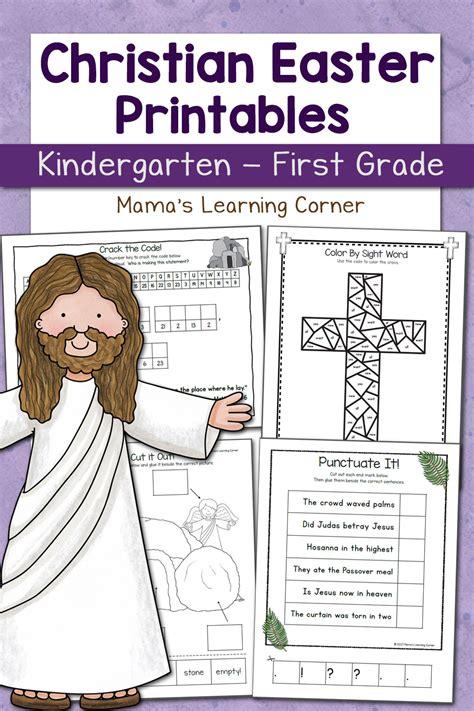 christian easter worksheets  kindergarten