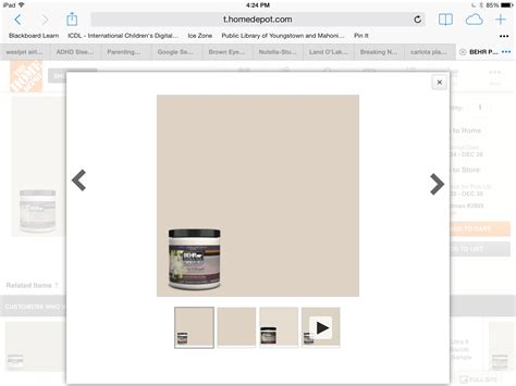 home depot behr parisian taupe paint in new house with