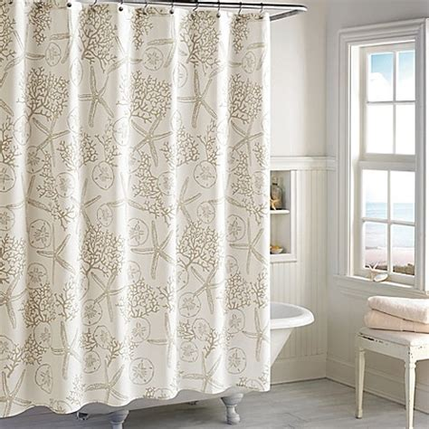 Sandy Bay Shower Curtain in Ivory   Bed Bath & Beyond