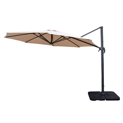 oakland living 5 umbrella set with 11 ft cantilever