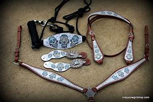 sweet sugar skulls with bronc and spur straps 14500 With bronc halter noseband template